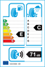etichetta europea dei pneumatici per kleber Quadraxer 155 65 14 75 T 3PMSF M+S