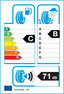 etichetta europea dei pneumatici per kumho Ecsta Ps71 205 60 16 96 V C XL