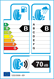 etichetta europea dei pneumatici per Kumho Es31 Ecowing 205 55 16 91 V