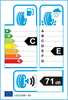 etichetta europea dei pneumatici per Kumho Hp71 Crugen 235 60 17 102 V