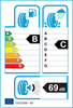 etichetta europea dei pneumatici per Kumho Hs51 225 50 17 98 W XL