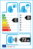 etichetta europea dei pneumatici per kumho Hs51 205 45 17 88 V XL
