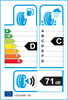 etichetta europea dei pneumatici per Kumho Solus 4S Ha32 155 80 13 79 T 3PMSF M+S
