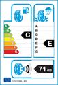etichetta europea dei pneumatici per Kumho WinterCraft WP71 205 55 16