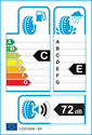 etichetta europea dei pneumatici per Ling Long GREEN-MAX HP010 205 50 17