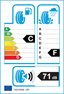 etichetta europea dei pneumatici per marshal Kw31 205 70 15 96 R 3PMSF M+S
