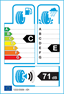 etichetta europea dei pneumatici per marshal Ws71 Wintercraft 245 65 17 111 H 3PMSF C XL