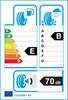 etichetta europea dei pneumatici per Michelin Agilis Alpin 185 75 16 104 R C M+S