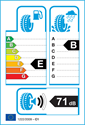 etichetta europea dei pneumatici per Michelin AGILIS ALPIN 215 60 17
