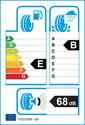 etichetta europea dei pneumatici per Michelin alpin 5 205 55 16