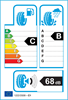 etichetta europea dei pneumatici per Michelin Alpin 6 185 65 15 88 T