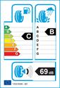 etichetta europea dei pneumatici per Michelin alpin 6 205 55 16