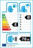 etichetta europea dei pneumatici per Michelin Pilot Alpin 5 205 40 18 86 V