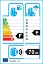 etichetta europea dei pneumatici per Michelin Pilot Alpin PA3 215 55 16