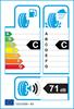 etichetta europea dei pneumatici per Michelin Pilot Alpin Pa4 255 45 19 104 W FR GRNX M+S