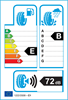 etichetta europea dei pneumatici per Milestone Greensport 205 40 17 84 W XL