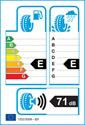 etichetta europea dei pneumatici per Nankang SV-1 205 50 17