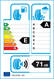 etichetta europea dei pneumatici per nexen N'fera Sport 225 45 18 95 Y FR XL