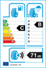 etichetta europea dei pneumatici per nokian Snowproof P 255 40 19 100 V 3PMSF XL