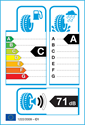 etichetta europea dei pneumatici per Nokian WEATHERPROOF SUV 225 60 17