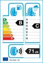 etichetta europea dei pneumatici per Nokian Wr A3 255 40 19 100 V 3PMSF B C M+S XL
