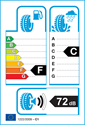 etichetta europea dei pneumatici per Nokian WR A3 225 50 17