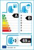etichetta europea dei pneumatici per Nokian Wr A4 245 45 18 100 V 3PMSF M+S XL
