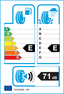 etichetta europea dei pneumatici per Nokian Wr G2 275 45 18 107 V XL