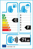 etichetta europea dei pneumatici per Ovation W586 165 70 14 81 T 3PMSF M+S