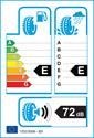 etichetta europea dei pneumatici per Ovation W586 205 55 16