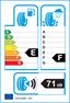 etichetta europea dei pneumatici per Petlas Snowmaster W601 145 70 13 71 T