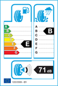etichetta europea dei pneumatici per Pirelli CINTURATO WINTER 205 55 16