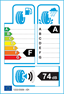 etichetta europea dei pneumatici per Pirelli Pzero Corsa Asimm. 295 35 20 105 Y XL