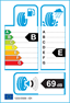etichetta europea dei pneumatici per Pirelli Sc Ver As Lr 255 60 19 113 V XL