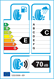 etichetta europea dei pneumatici per presa Pwa 195 55 15 89 V M+S XL