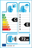 etichetta europea dei pneumatici per Radar Dimax Winter Sport 225 50 17 98 V XL