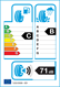 etichetta europea dei pneumatici per Roadstone Eurovis Sport 04 205 50 17 93 W XL