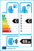 etichetta europea dei pneumatici per Roadstone Eurovis 185 60 16 86 H