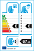 etichetta europea dei pneumatici per Roadstone Eurovis 155 70 13 75 T 3PMSF M+S