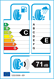 etichetta europea dei pneumatici per Sunny Nc501 175 65 15 84 H