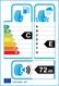 etichetta europea dei pneumatici per T-Tyre Four 225 45 18 95 W XL