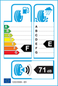 etichetta europea dei pneumatici per Toyo SNOWPROX S942 205 50 17