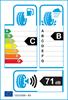 etichetta europea dei pneumatici per Unigrip Sportage Pro 205 70 14 98 T B C XL