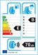 etichetta europea dei pneumatici per Yokohama Advan Neova Ad08rs 225 45 17 91 W