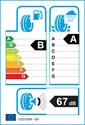 etichetta europea dei pneumatici per Yokohama ADVAN SPORT V105 205 55 16