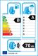etichetta europea dei pneumatici per Yokohama Ae51 215 65 16 98 H