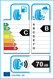 etichetta europea dei pneumatici per Yokohama Bluearth Ae-50 195 55 16 87 H