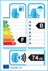 etichetta europea dei pneumatici per Yokohama Delivery Star Ry818 195 65 16 104 R