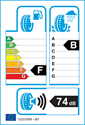 etichetta europea dei pneumatici per Yokohama Delivery Star RY818 175 65 14