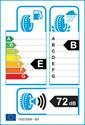 etichetta europea dei pneumatici per Yokohama E70 dB 225 50 17